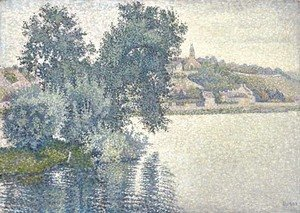 Paul Signac - Herblay. Temps gris. Saules