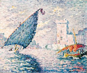 Paul Signac - Marseille, Barques de pche