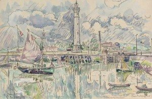 Paul Signac - Ouistreham, le port