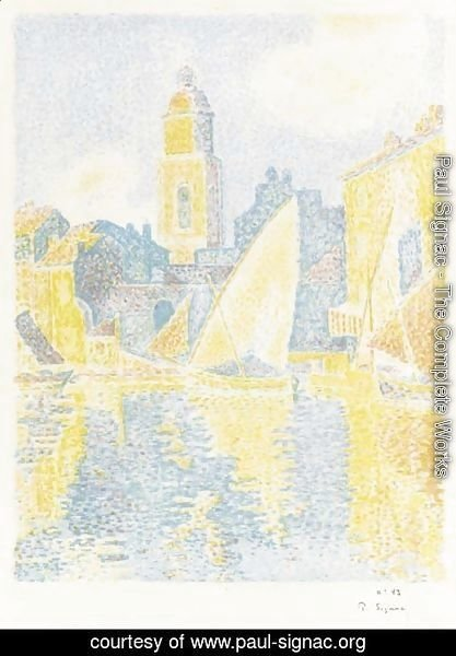 Paul Signac - Saint-Tropez Le Port