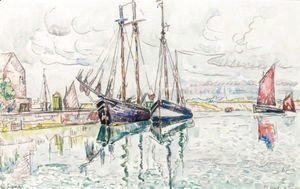 Paul Signac - Voiliers Au Port De Saint Vaast La Hougue