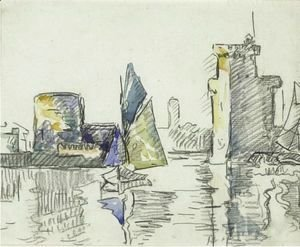 Paul Signac - Marine With Sailboat And Tower