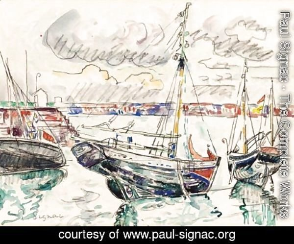 Paul Signac - Barques Au Port