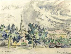 Paul Signac - Bourg St. Andeol