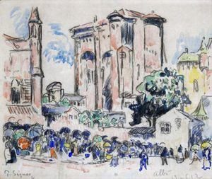 Paul Signac - Place Animee A Albi