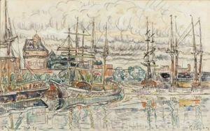 Paul Signac - Scene De Port, Saint-Malo