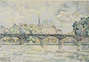 Paul Signac - Paris, Le Pont Des Arts
