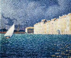 Paul Signac - Saint-Tropez, the Storm