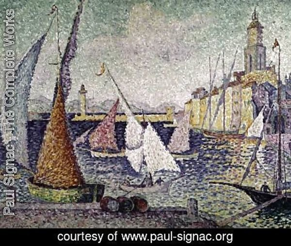 Paul Signac - The Port of Saint-Tropez 2