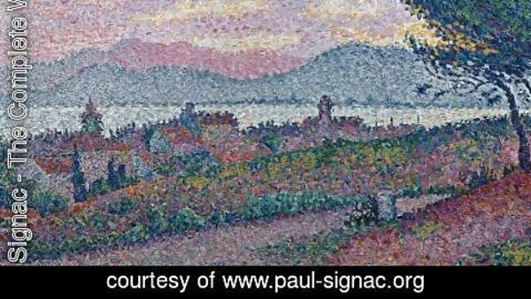 Paul Signac - View of Saint-Tropez (detail)