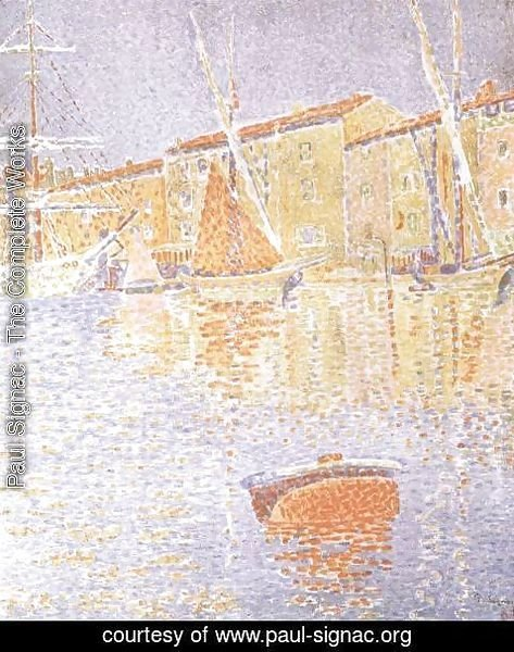 Paul Signac - Saint-Tropez, the Harbour