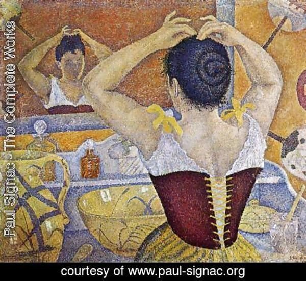 Paul Signac - Woman Taking up Her Hair