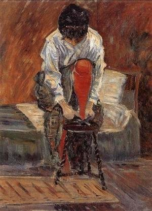 Paul Signac - Red silk stockings