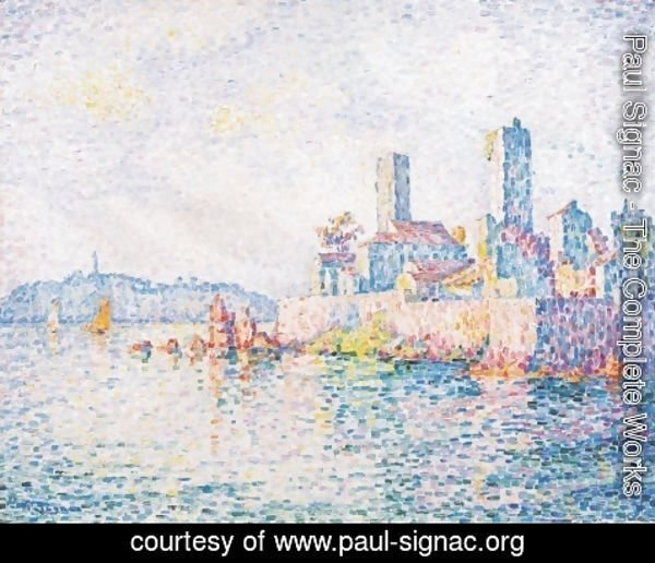 Paul Signac - Antibes, the towers