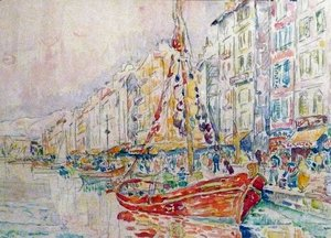 Paul Signac - An Old port of Marseille