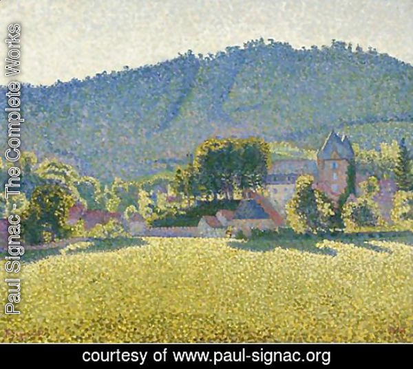 Paul Signac - Comblat and the valley of the Cere