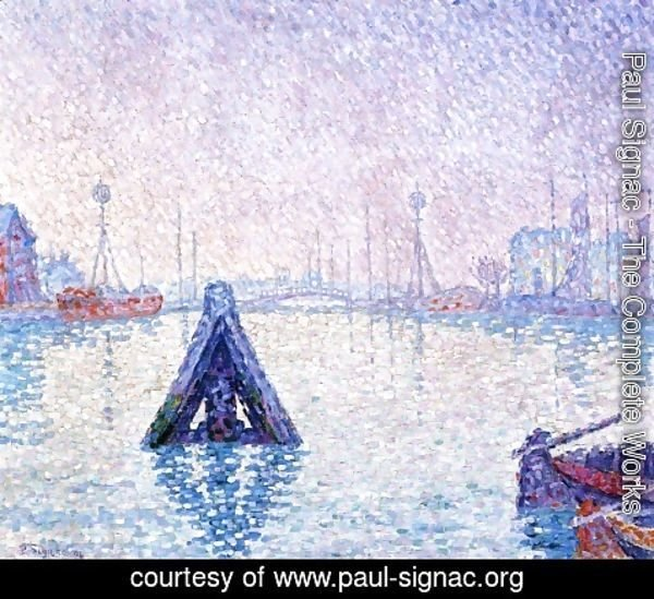 Paul Signac - The Port at Vlissingen, Boats and Lighthouses