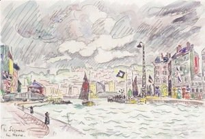 Paul Signac - Le Havre with rain clouds