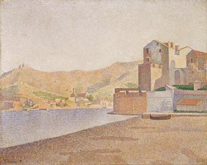 Paul Signac - The Town Beach Collioure Opus 165