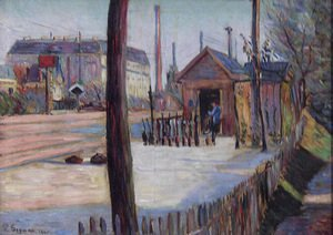 Paul Signac - Railway Junction Near Bois Colombes
