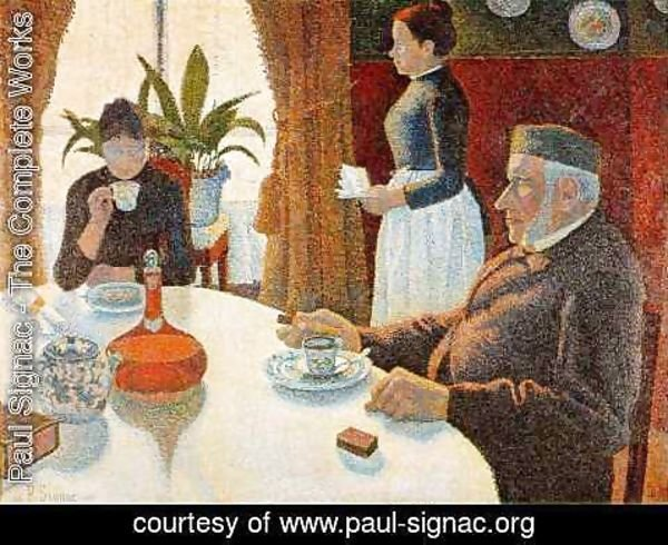 Paul Signac - The Dining Room 1887